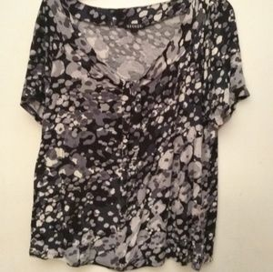 George patterned short sleeved top - XL